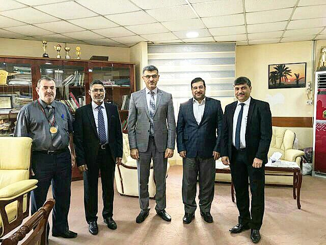 IAMRS President meets  Basrah Medical Colleage Dean