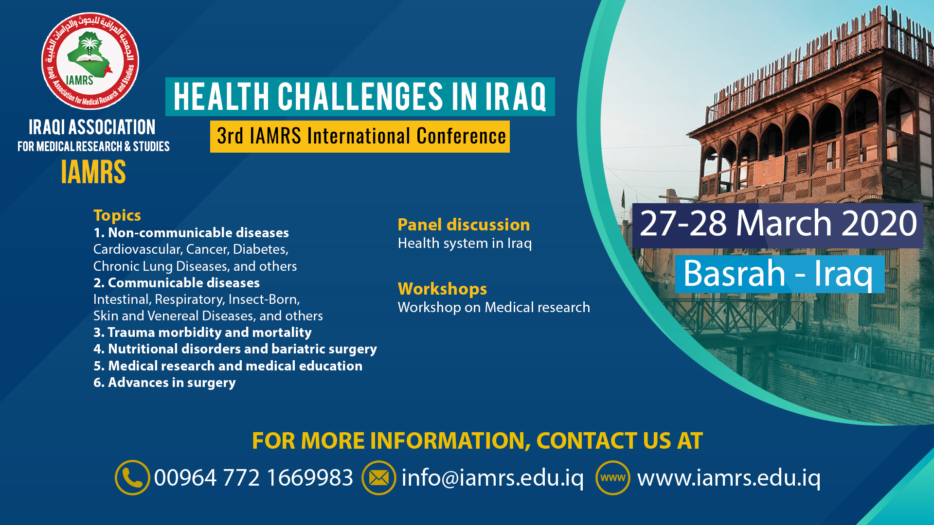3rd IAMRS International Conference Scientific Program
