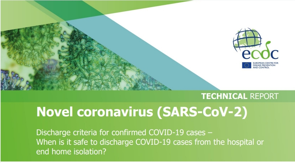 Discharge criteria for confirmed COVID-19 cases