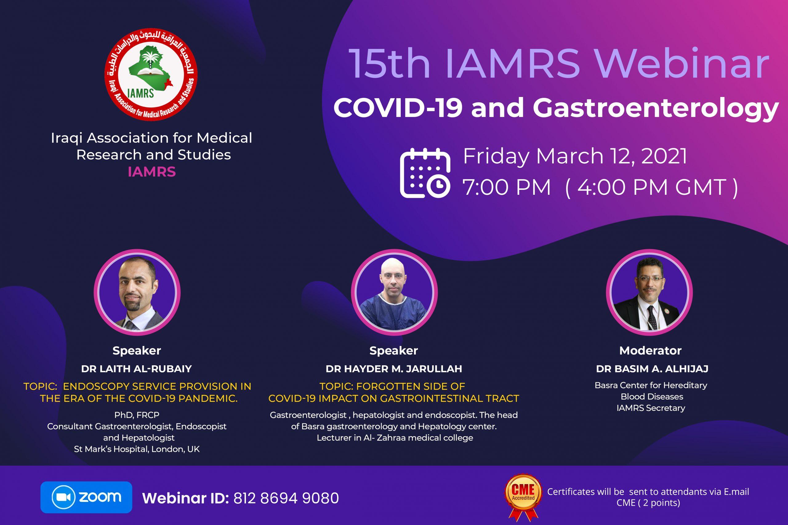 15th IAMRS Webinar